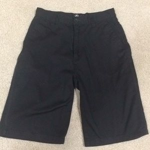 MICROS BOYS BLACK DRESS SHORTS. SIZE 12.